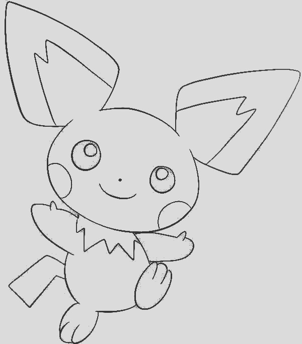 drawing pichu coloring page