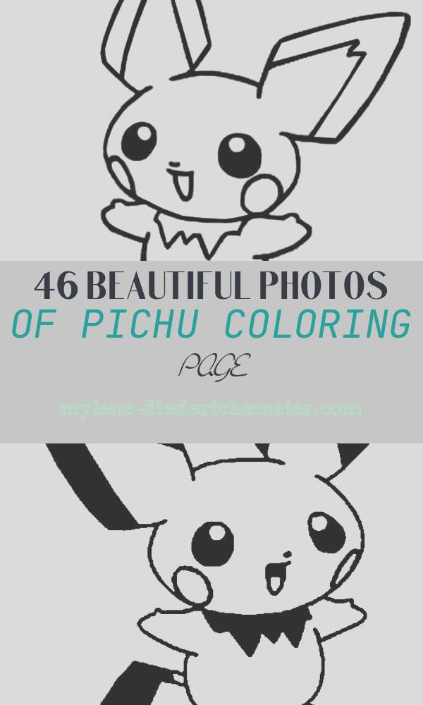 Pichu Coloring Page Awesome P is for Pichu Coloring Page