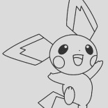 picture of pichu coloring page