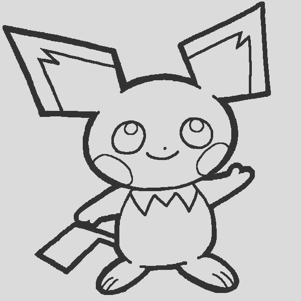pichu drawing coloring page