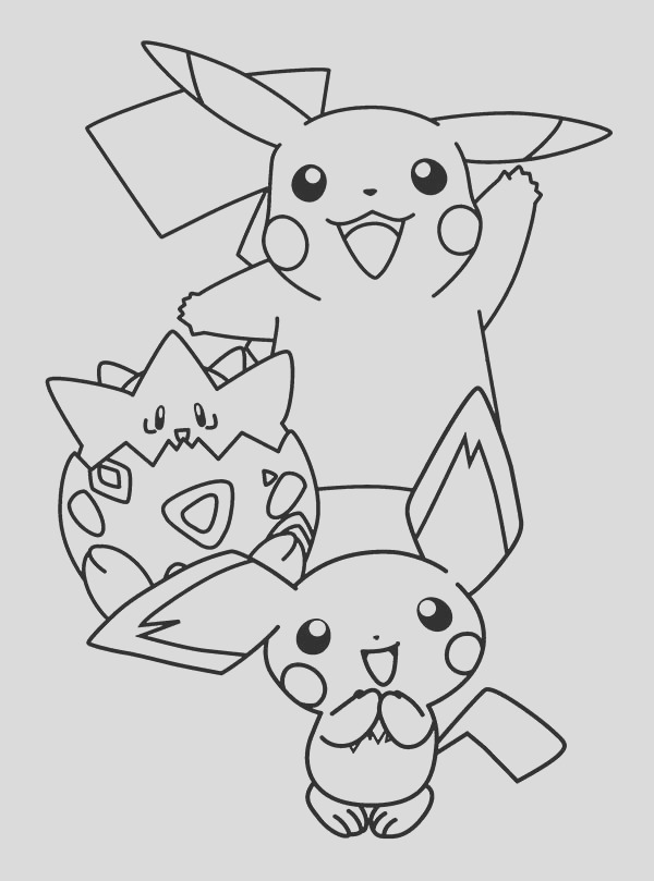 pichu is born coloring page