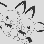 pikachu and raichu and pichu coloring page