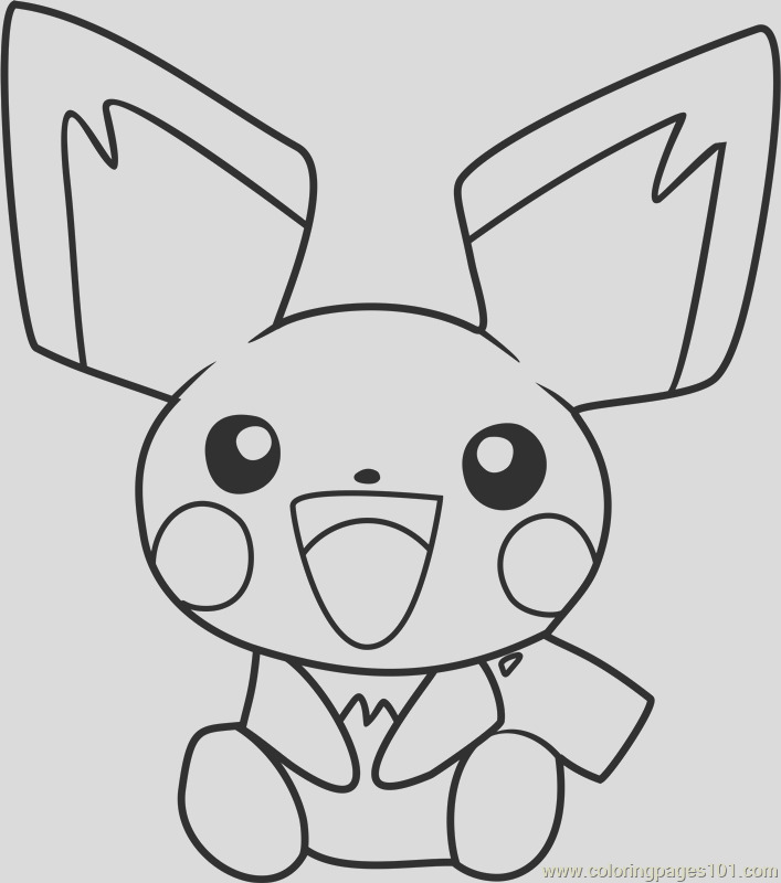 pichu pokemon coloring page
