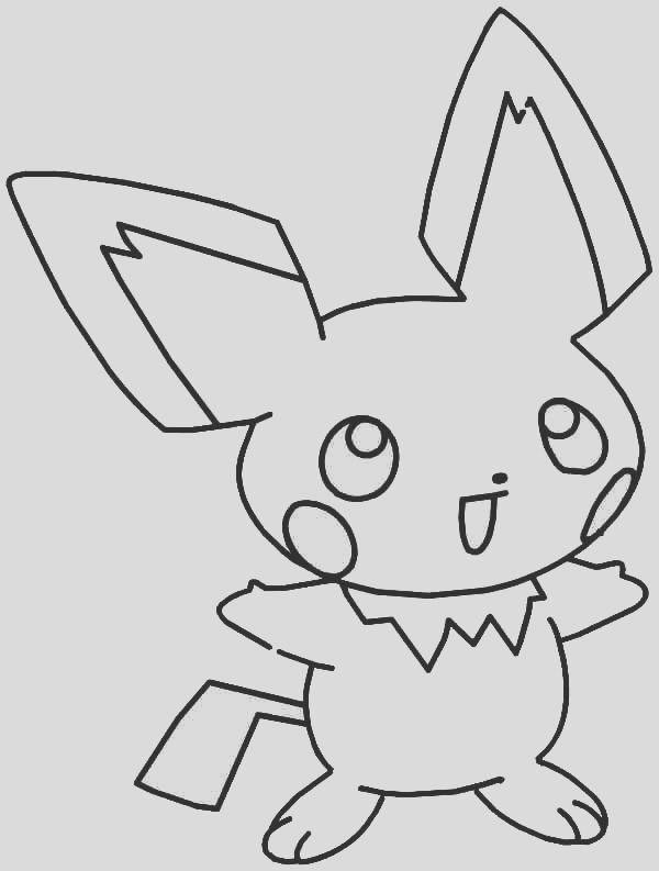 laughing pichu coloring page