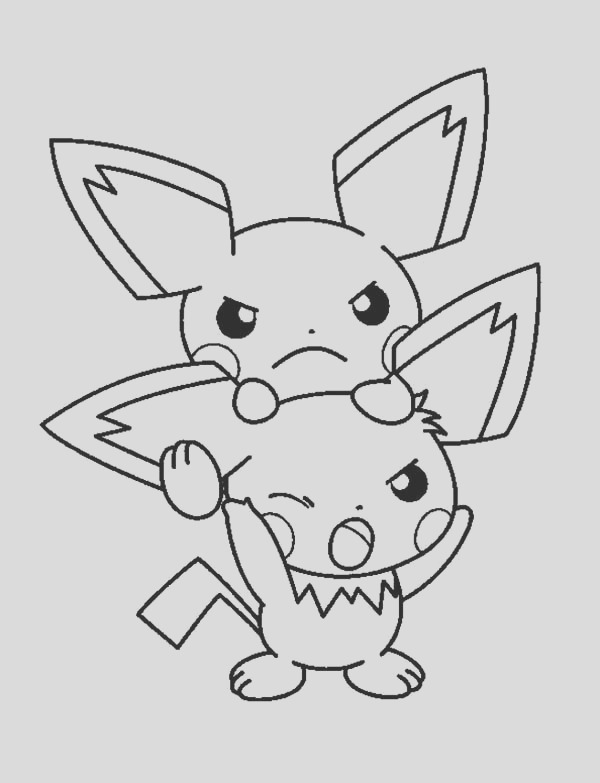 bothered pichu coloring page