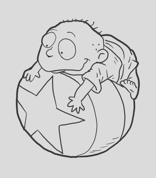 tommy pickles from rugrats coloring page