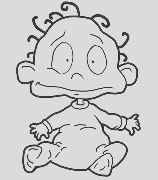 dil pickles from the rugrats coloring page