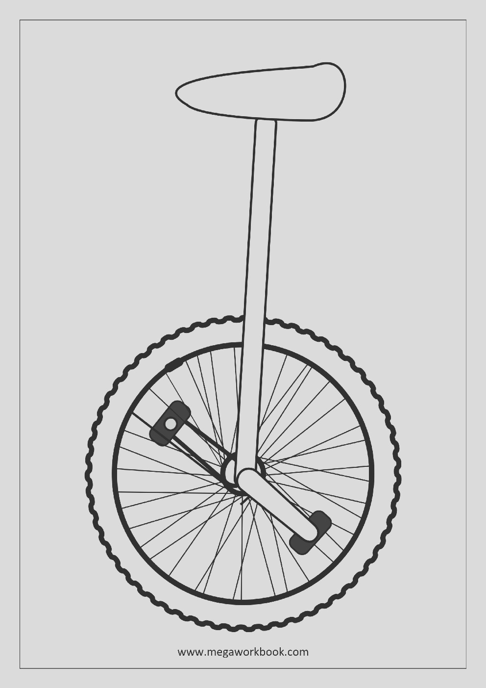 unicycle coloring pages
