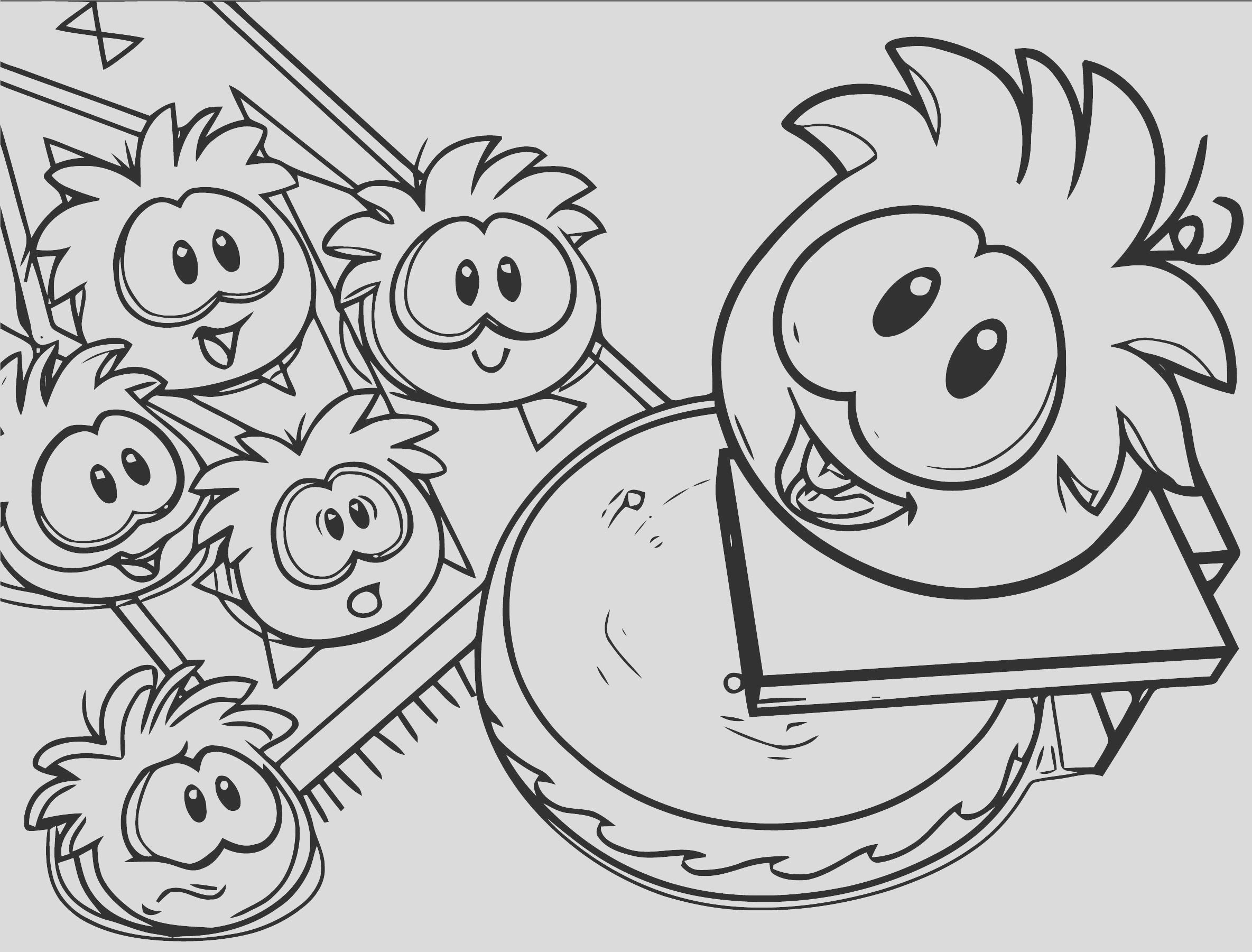 puffles club penguin coloring page