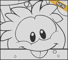 new club penguin colouring page