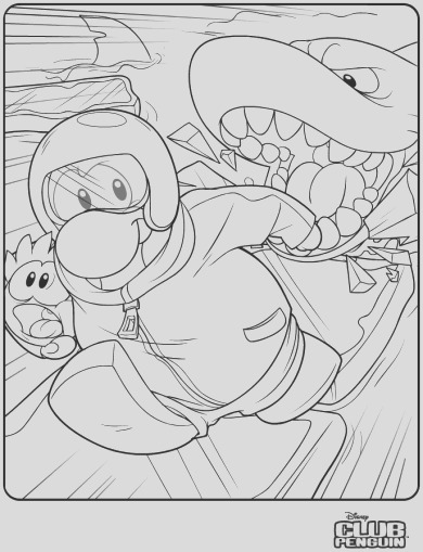 puffle rescue coloring page