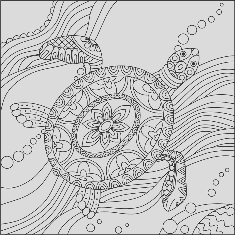 stock illustration coloring page sea pattern waves seamless pages backgrounds fabric fill more image