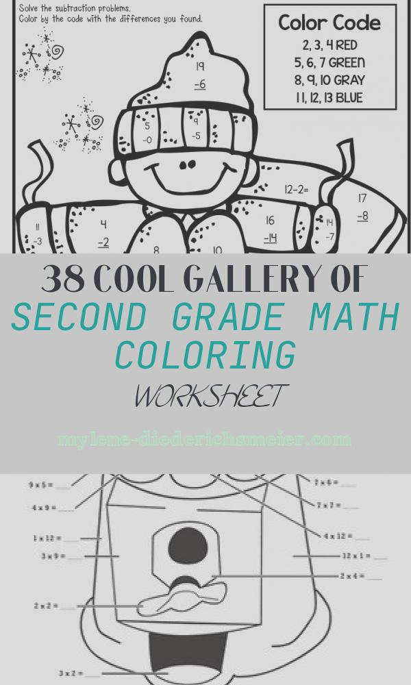 Second Grade Math Coloring Worksheet Best Of Winter Math & Literacy Print and Go 2nd Grade Ccss
