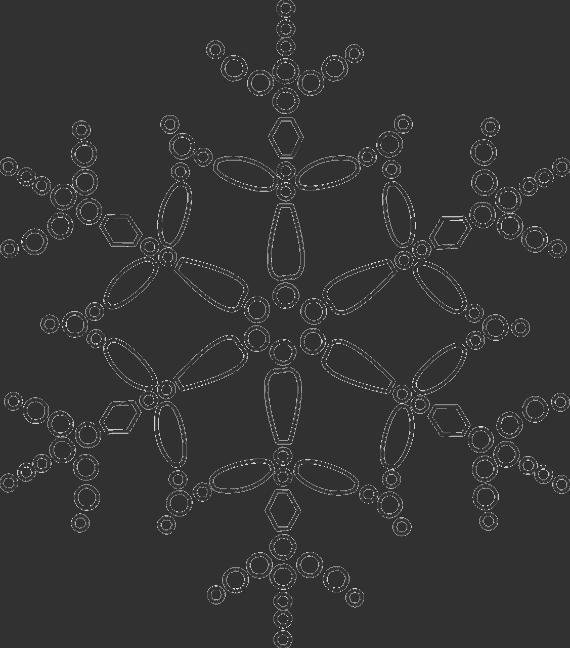 snowflake colouring pages