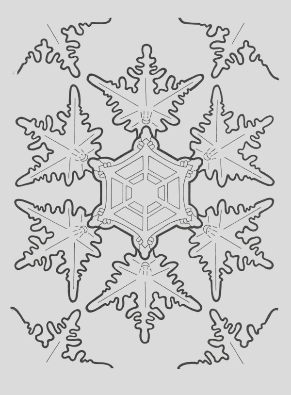 amazing christmas snowflakes coloring page