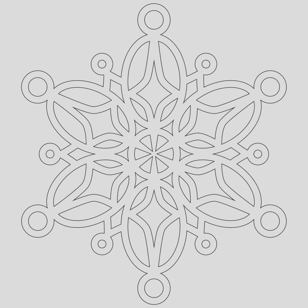 snowflake coloring pages