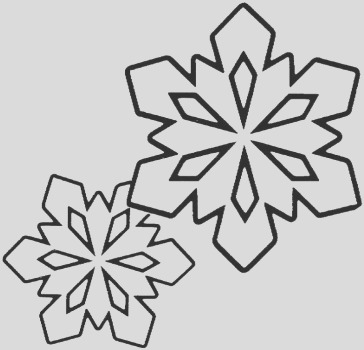 printable snowflake colouring pages