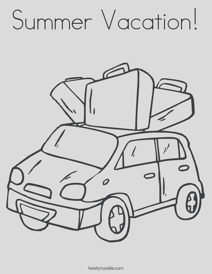 summer vacation coloring page