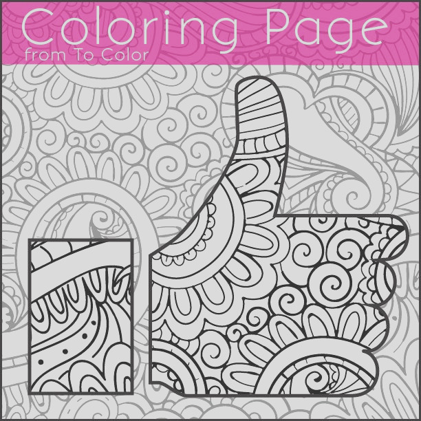 printable thumbs up coloring page for