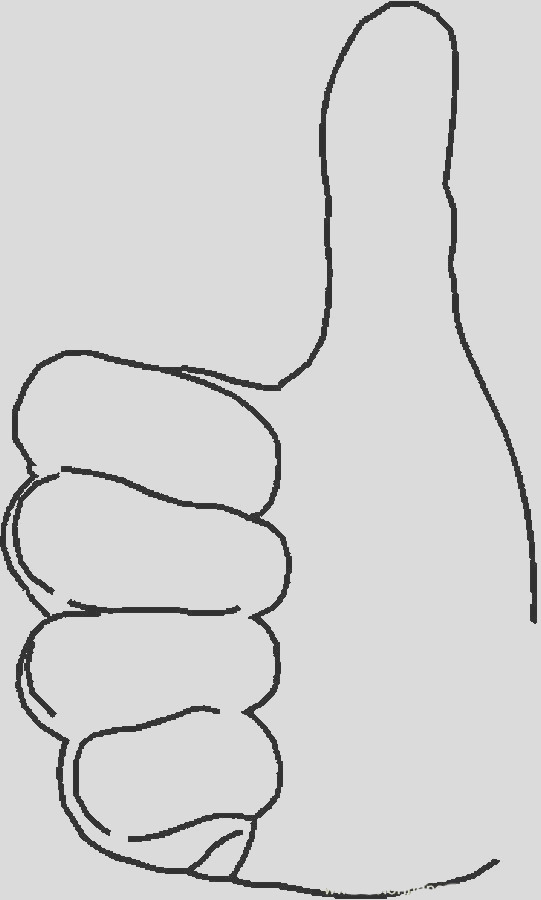 thumbs up coloring page sketch templates
