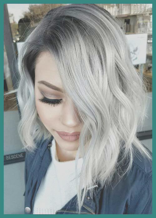 silver colored hair
