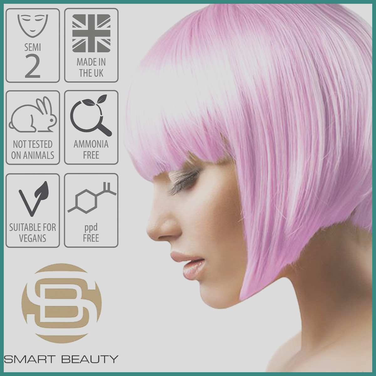 permanent hair color pink