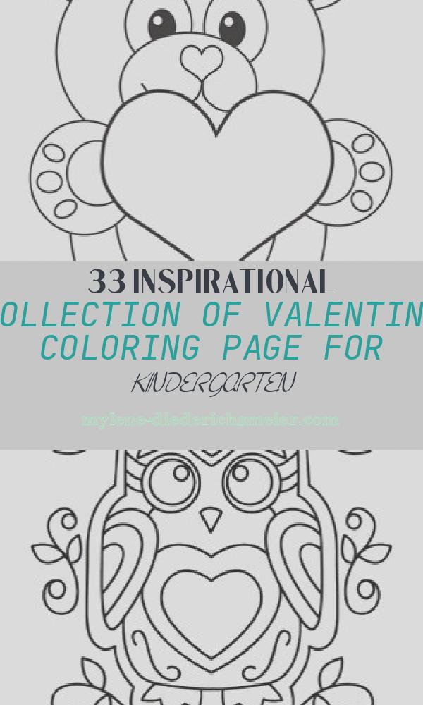 Valentine Coloring Page for Kindergarten Awesome Valentine S Day Bear Worksheet