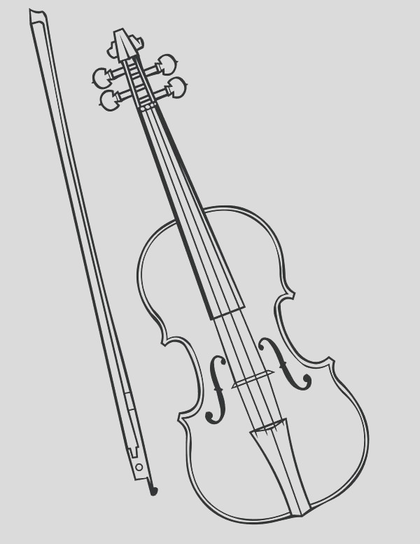 musical instruments drawing