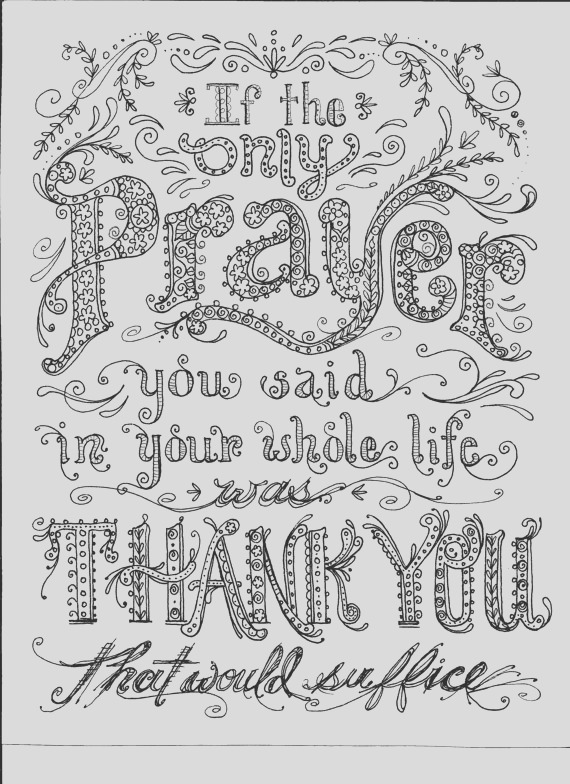 instant prayer coloring page