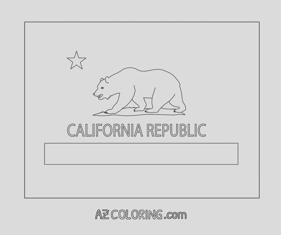california state flag coloring page