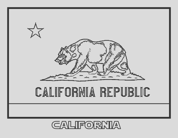 state flag of california coloring page