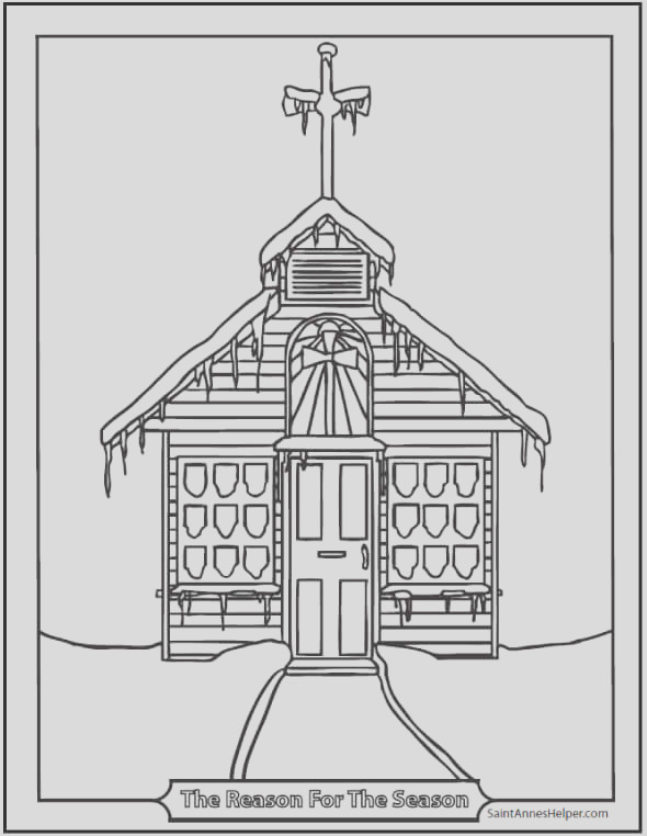church coloring pages
