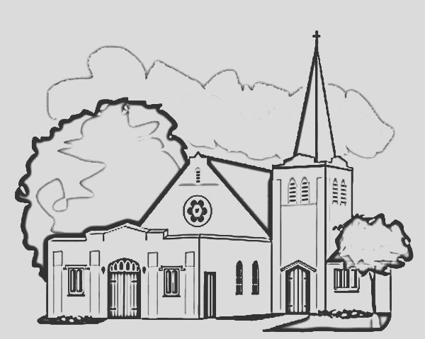 church coloring pages for kids