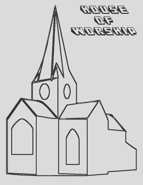 church place to confess coloring pages