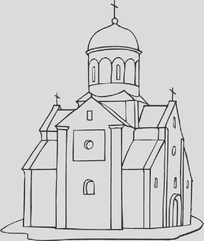 churches coloring pages