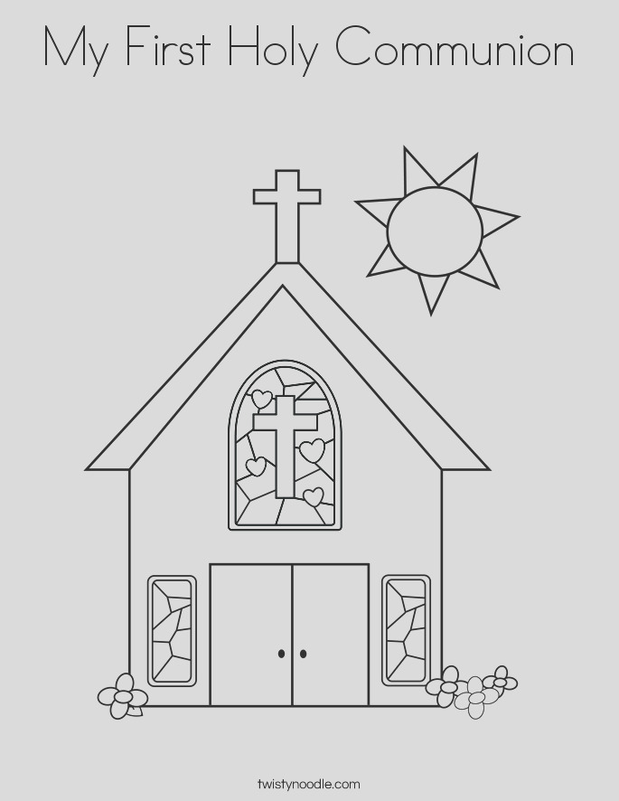my first holy munion coloring page