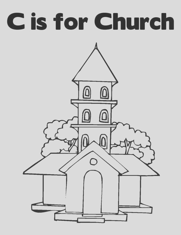 an old church coloring pages