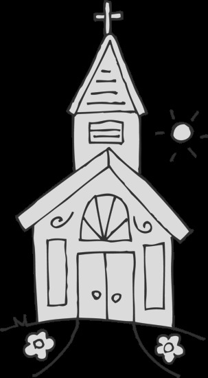 little church coloring page 2081