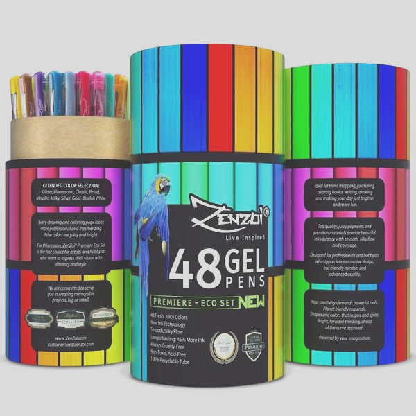 out of stock gel ink pens 48 assorted colors eco tube 45 more ink extended color selection