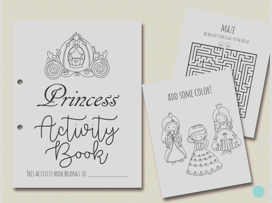 princess coloring and activities book pages