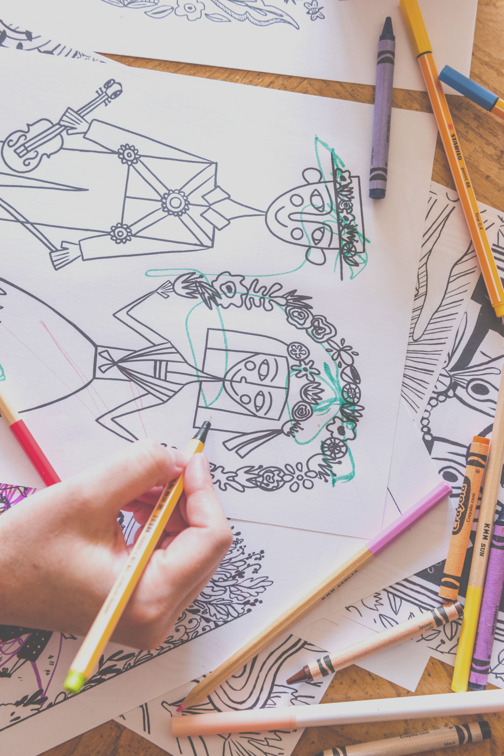 new coloring page subscription