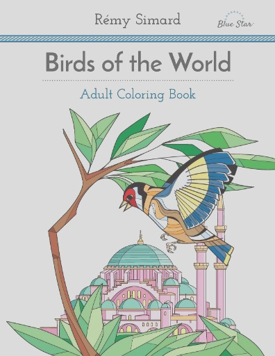 adult coloring book birds of the world