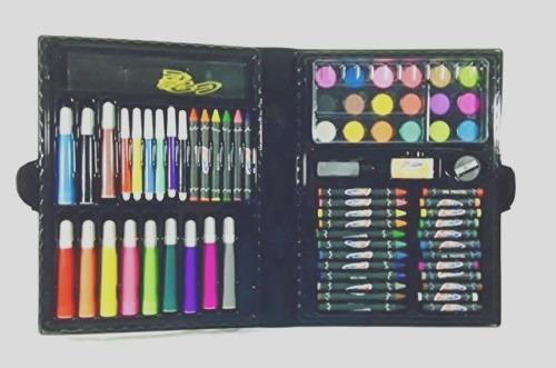 art materials and craft drawing set 80 piece kit plus kids coloring book art supplies writing supplies children birthday artists sketching