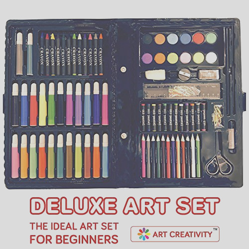 deluxe art set for kids by art creativity the ideal art set for beginners includes 101 pieces eco friendly unbeatable value bonus coloring book best for kids 5 years old