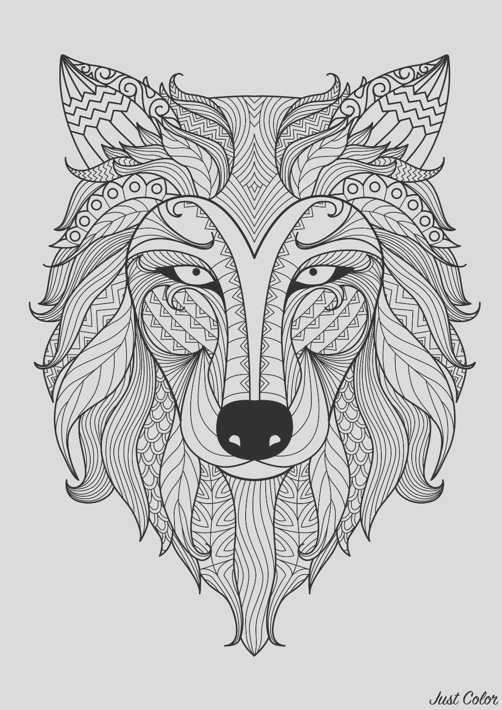 image=wolves coloring incredible wolf by bimdeedee 1