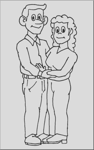 clip art family mother father coloring page