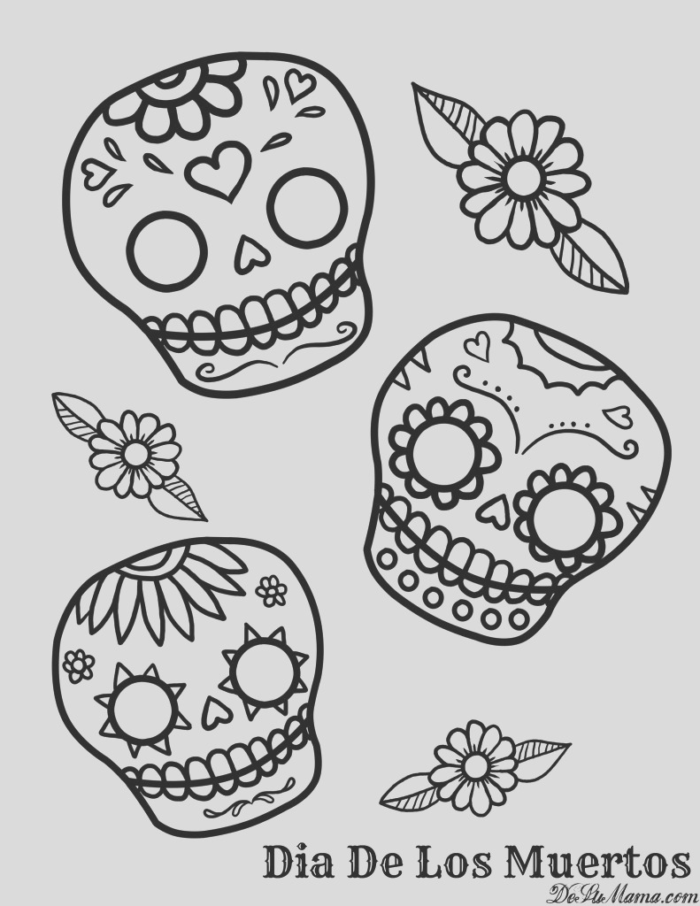 mexican day of the dead kid art free printable