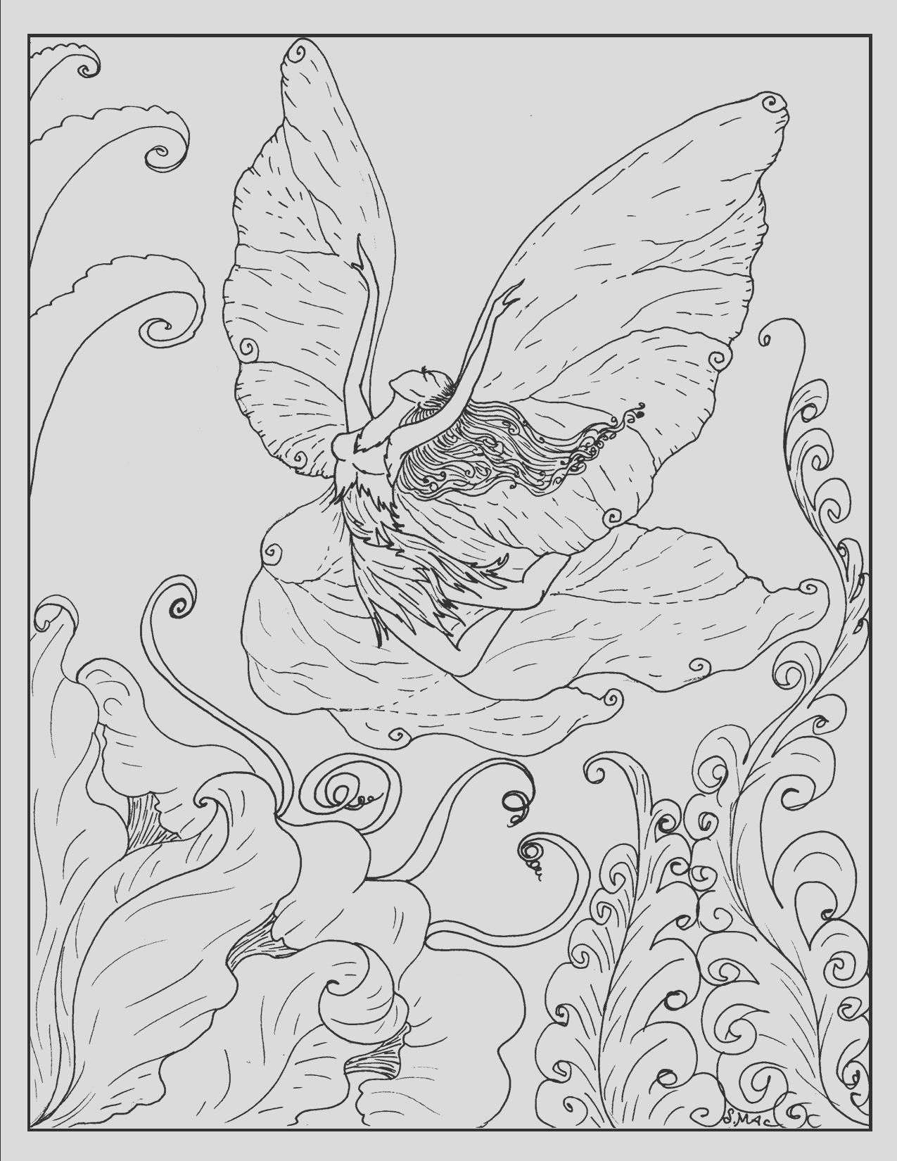 free printable fantasy coloring pages kids