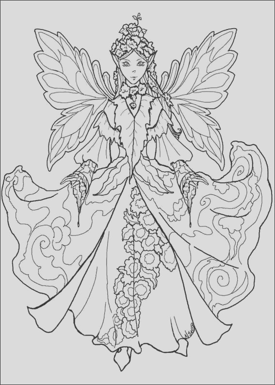 fairies coloring pages 9 2