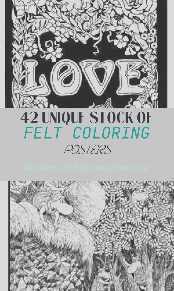 Felt Coloring Posters Beautiful Felt Coloring Posters Back In the Day